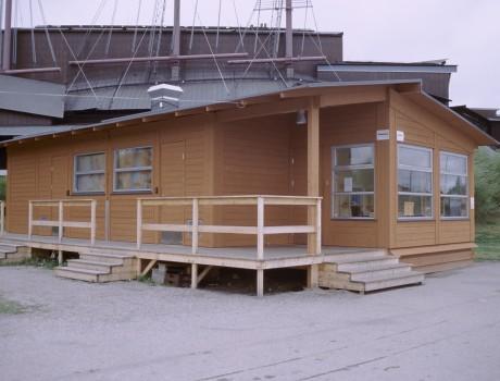 Tillfälliga byggnader på Galärvarvet/ Temporary buildings at Galärvavet, Stockholm, Sweden